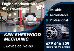 Collect, repair and return your car with Ken Sherwood English Mechanic near Camposol and Condado de Alhama