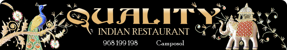 Quality Indian Restaurant Camposol and Aguilas