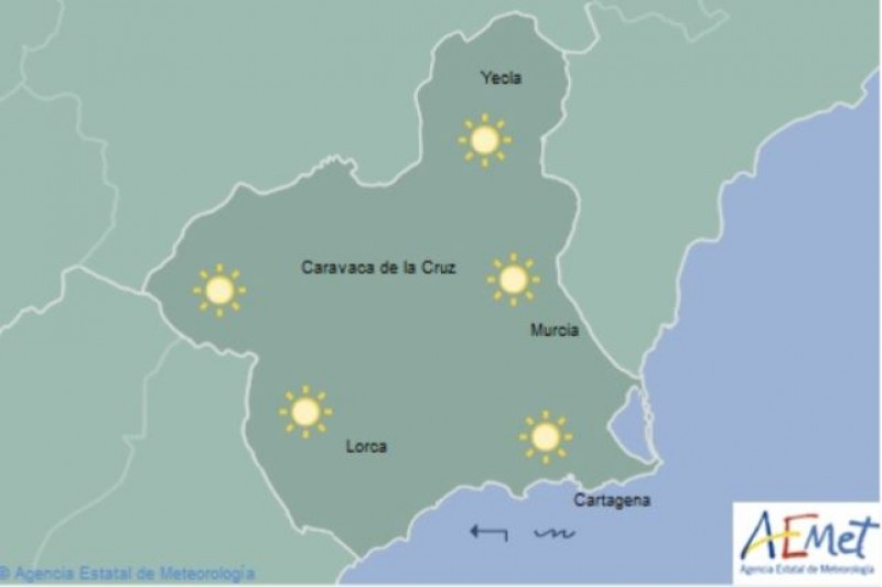 Murcia set for cooler weather on Friday but temperatures to soar next week
