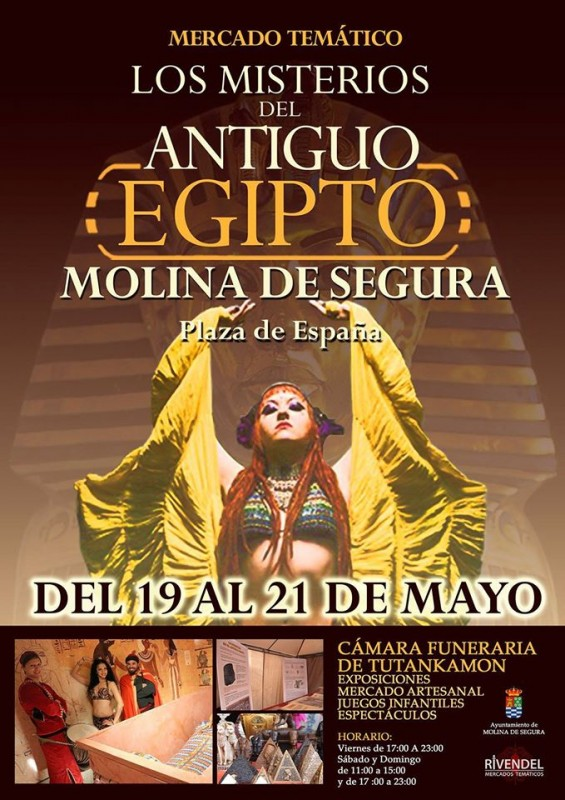 19th to 21st May Egyptian themed arts and crafts market in Molina de Segura