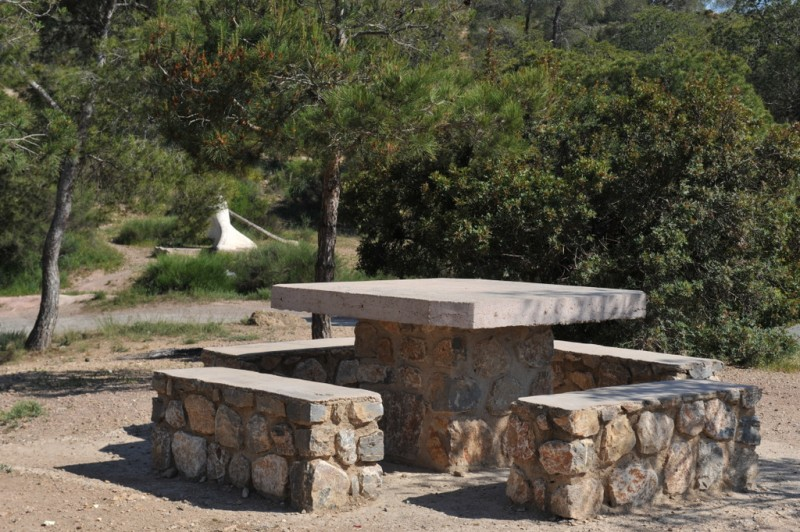 El Ángel picnic and recreation area in the Sierra Espuña