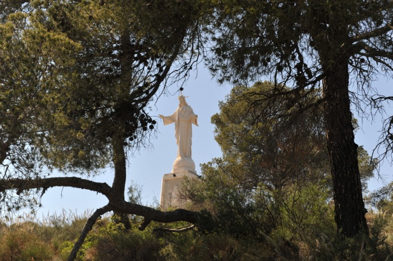 Sierra Espuña walks, the Via Crucis between the Santuario de Santa Eulalia in Totana and the Corazón de Jesús viewing point