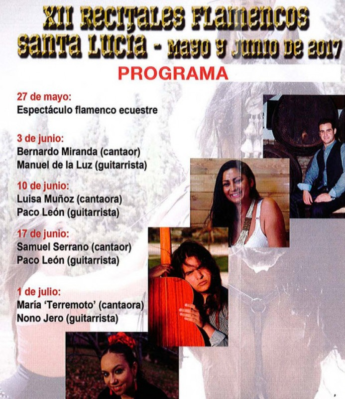 <span style='color:#780948'>ARCHIVED</span> - 10th June free open-air flamenco in the Santa Lucia district of Cartagena