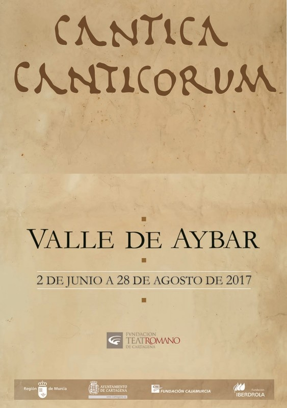 Until 28th August, exhibition by artist Valle de Aybar at the Museo Teatro Romano in Cartagena