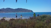 Glorious weather for La Azohía beach clean-up