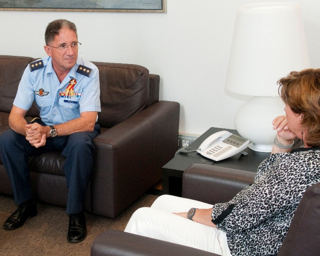 Director of San Javier Air Academy discusses Corvera airport issue with Cartagena Mayoress