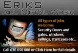 Eriks Metalwork all types of metal work, welding, home security grills, decorative panels and repairs for the Murcia Region