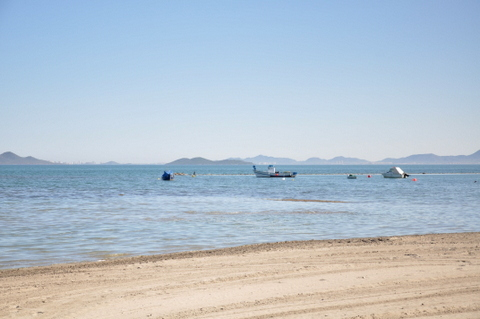 Overview of the beaches of Los Alcázares