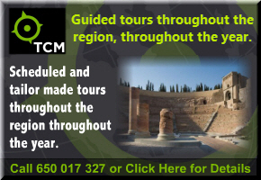 English language guided tours of Cartagena and throughout Murcia.