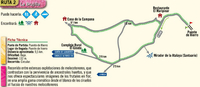 Cycling, walking, driving route 2, Cieza routes