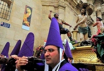 Good Friday am the Procession of the Salzillos Murcia