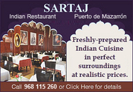 Murcia today restaurant directory indian murcia costa calida spain - Maharaja fine indian cuisine ...