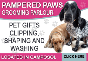 Pampered Paws, Dog grooming and clipping, based on Camposol Mazarron