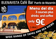 Buenavista Cafe Bar in Puerto de Mazarron