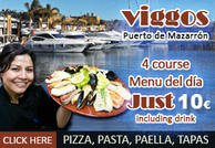 Viggos in Puerto de Mazarron is right next to the marina