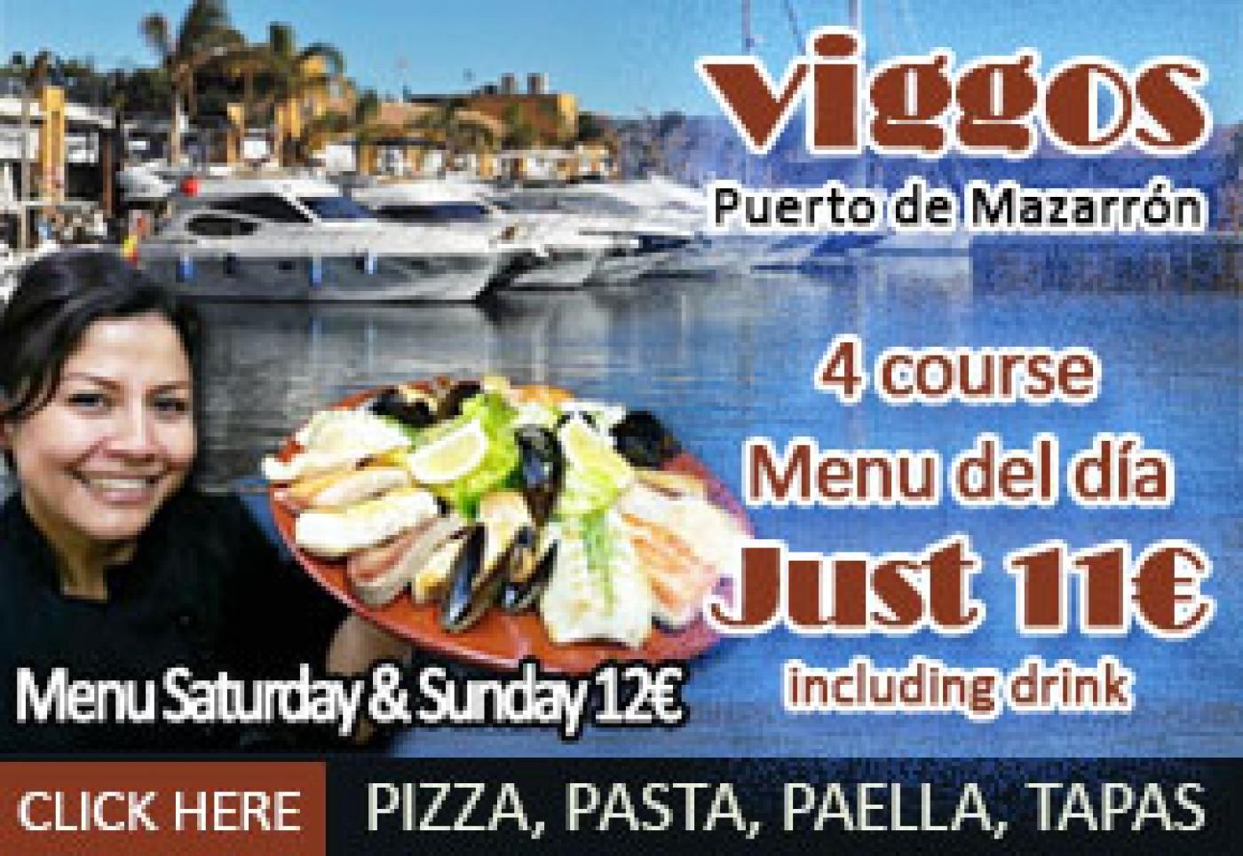 Viggos in Puerto de Mazarrón is right next to the marina