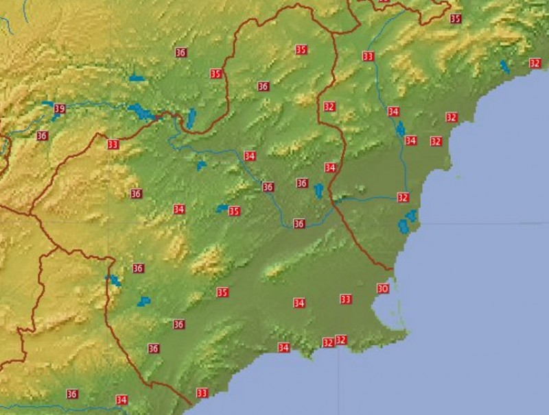 Murcia swelters as June temperatures reach the high 30s