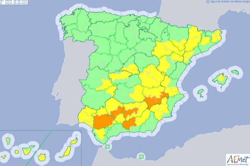 <span style='color:#780948'>ARCHIVED</span> - Heat alerts return to the Costa Calida this weekend