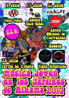4th August in Alhama de Murcia two free youth concerts