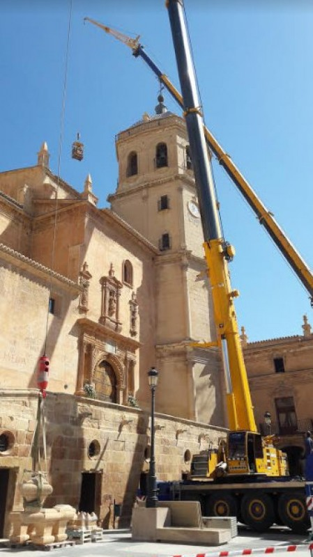 The church of San Patricio in Lorca regains its crowning glory
