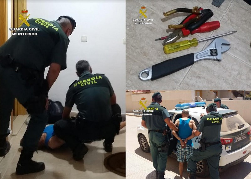 Mar Menor holiday home burglar arrested after 30 thefts