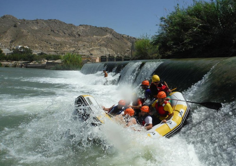 Rafting, bungee jumping, canyoning, ziplining in Calasparra and Cieza, Murcia.