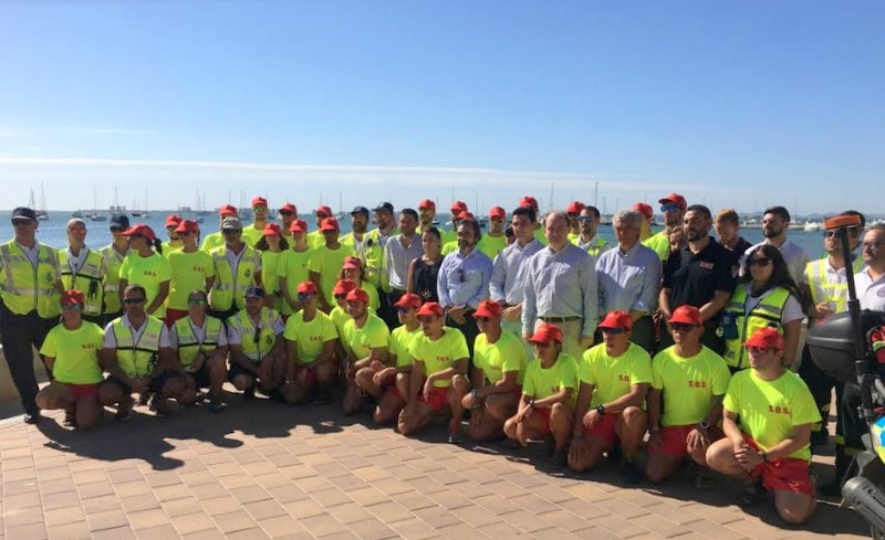 San Javier lifeguard and beach vigilance service in full swing