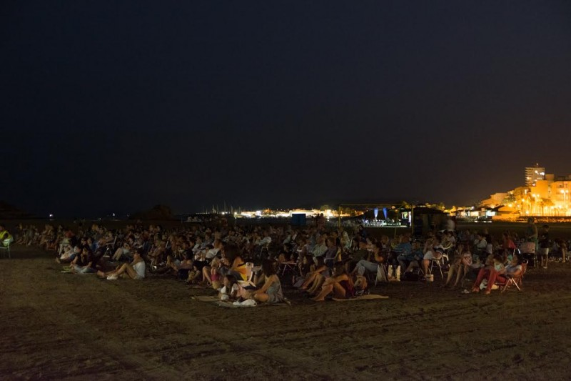 Free open-air cinema on Mazarrón beach every Monday and Wednesday