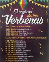 30th and 31st July free open air dances with live music in Santiago de la Ribera
