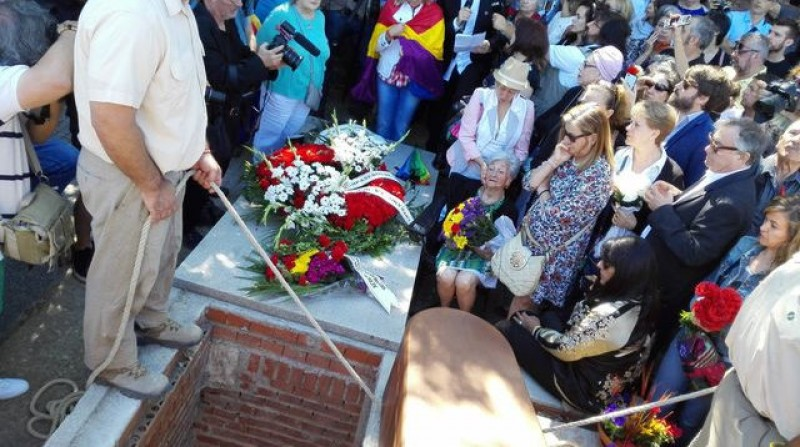 Civil War victim given full burial in Madrid 78 years after his death