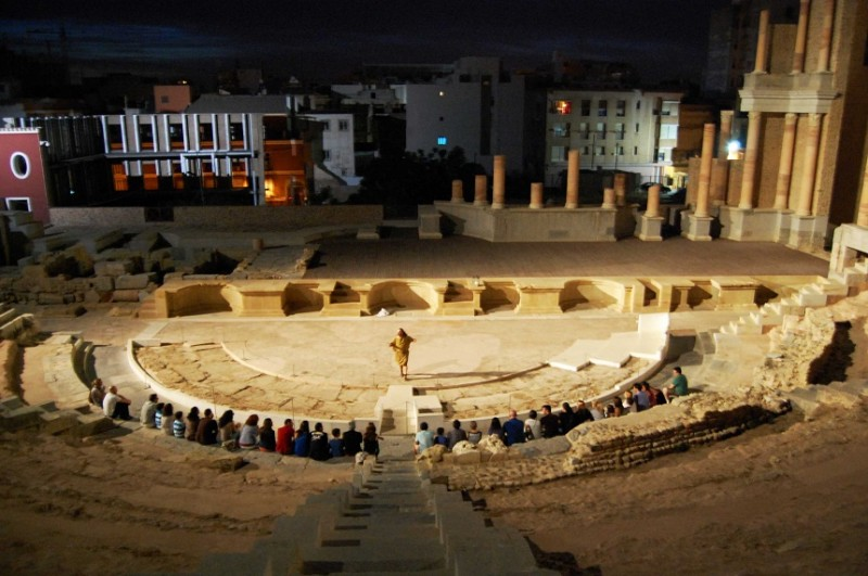 Every Saturday: Night time theatrical visits to the Roman Theatre Museum in Cartagena