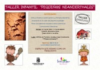 16th August free workshop for children in Torre Pacheco: Pequeñ@s Neanderthales