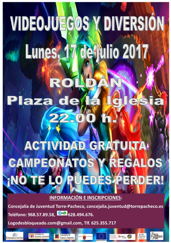 17th July free videogames tournament in Roldán