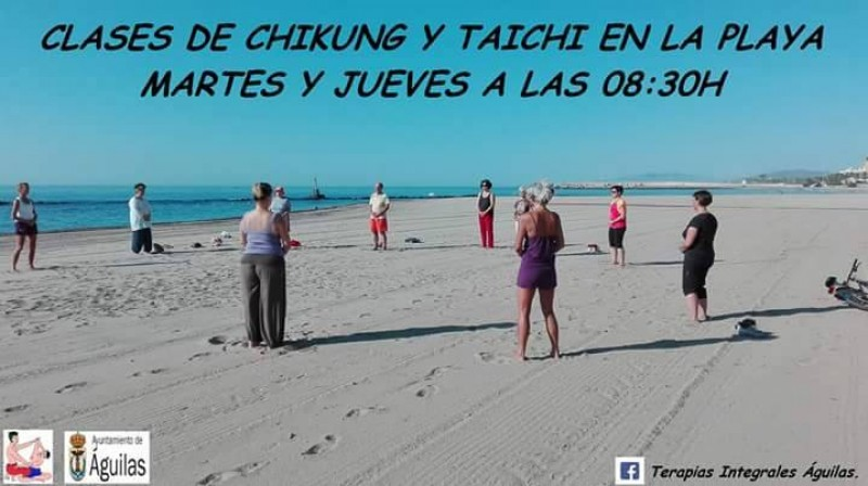 Tai Chi on the beach in Águilas every Tuesday and Thursday