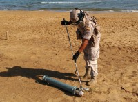 Naval explosives experts called into Calblanque