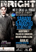 5th August illusionist and magician Toni Bright in Águilas