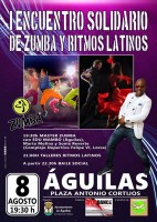 8th August Zumba and Latin rhythms for good causes in Águilas