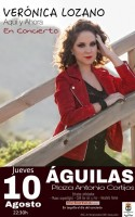 Thursday 10th August Copla with Veronica Lozano in Aguilas