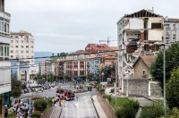 Apartment block collapses in Santander