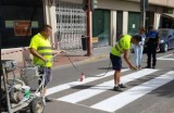 Two tons of paint to make school entrances safer in Lorca