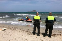 San Javier police on beach patrol for the summer
