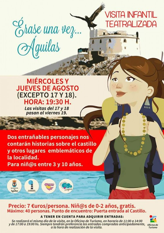 Full agenda for events and activities in Águilas during August