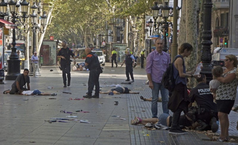 <span style='color:#780948'>ARCHIVED</span> - At least twelve killed and dozens injured in Barcelona terror attack