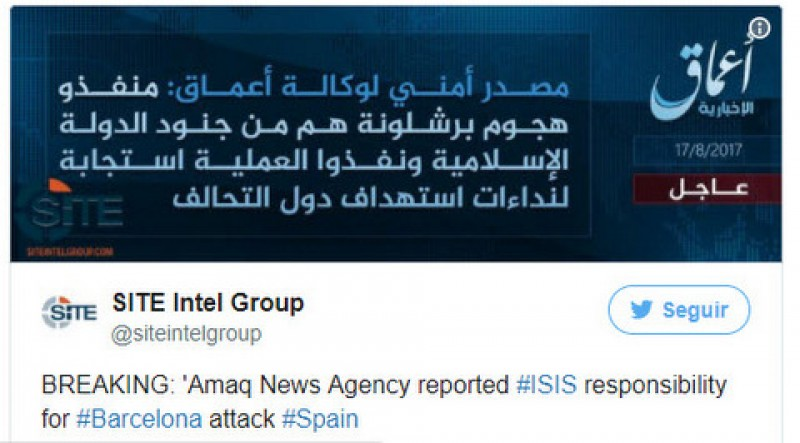 <span style='color:#780948'>ARCHIVED</span> - IS claims responsibility for Barcelona attack