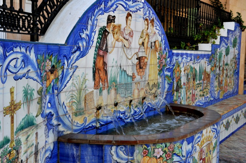 The fountain on Calle Mayor in Abanilla