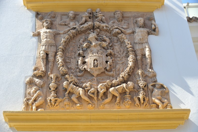 The coat of arms of the García de Alcaraz family in Lorca