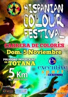 5th November fun colour run in Totana