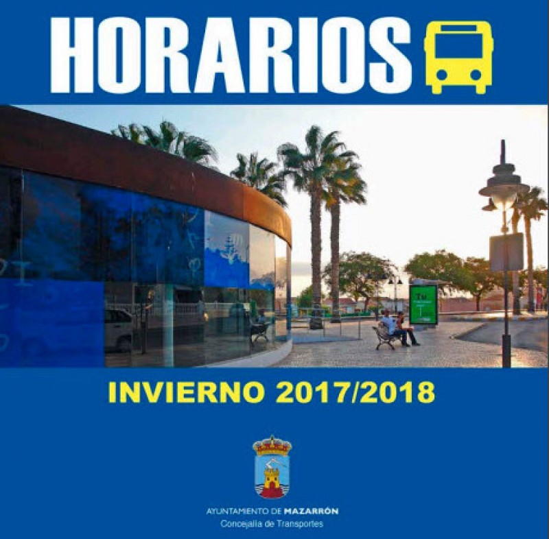 Mazarrón bus timetables for Winter 2017 and Spring 2018