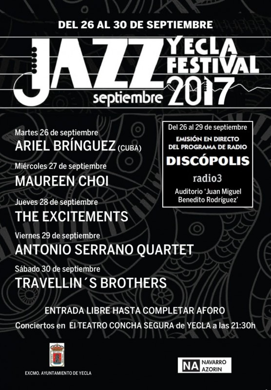 26th to 30th September; Free Jazz at the Yecla Jazz Festival