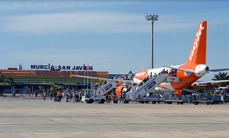 The UK and Ireland account for over 90 cent of all passengers at San Javier last month